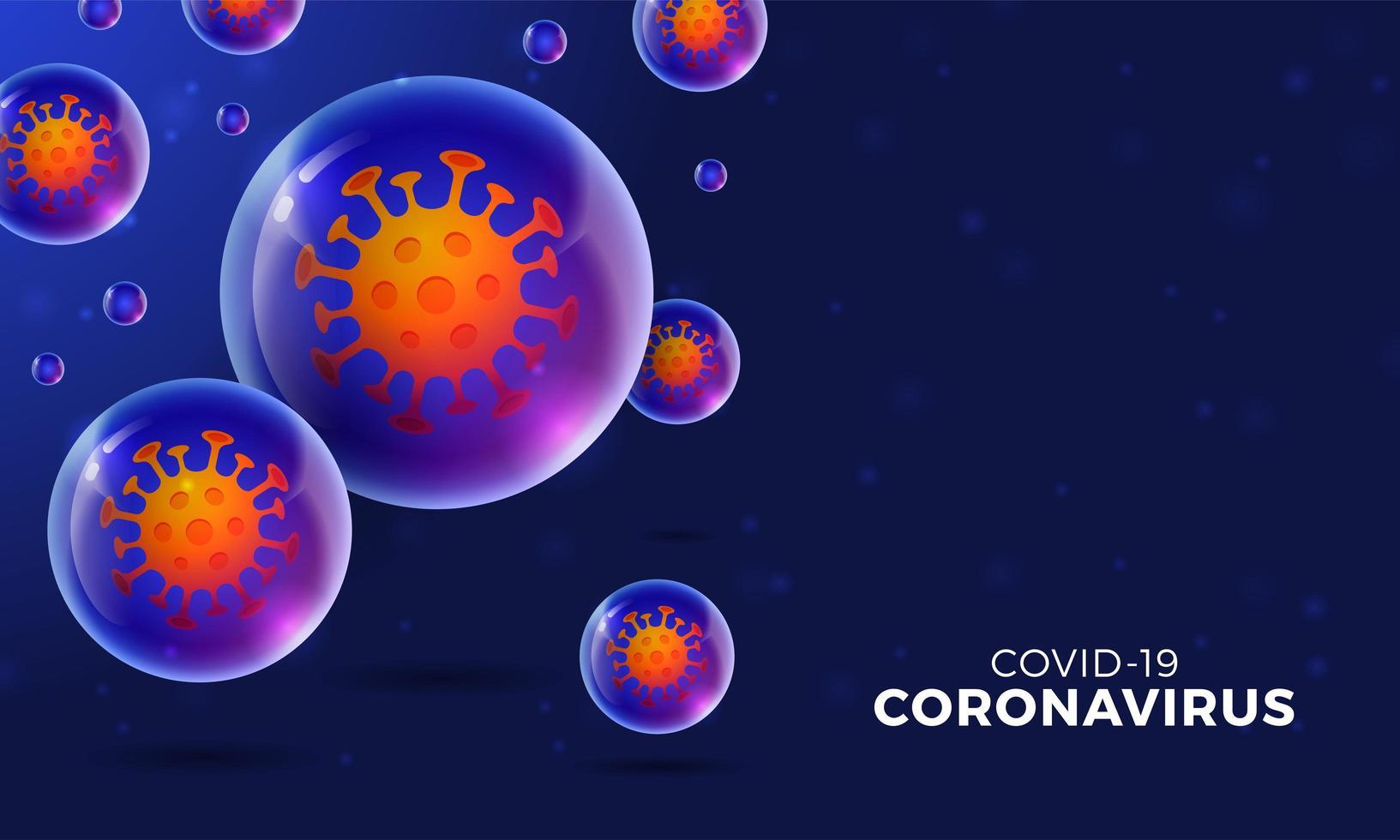 futuristisk coronavirus eller covid-19 webb banner mall vektor