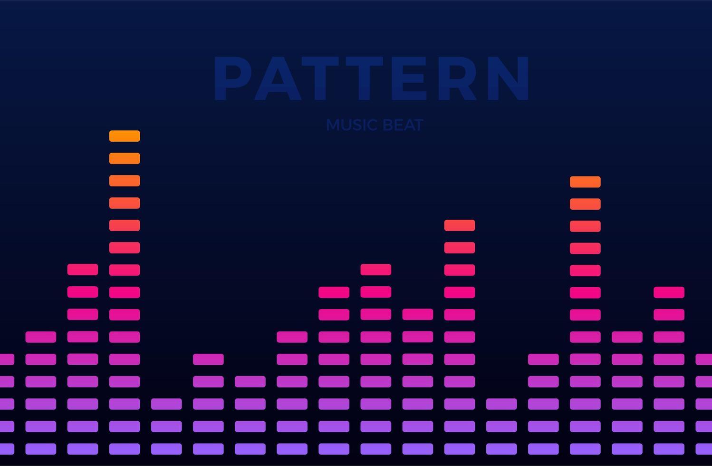 vektor digital musikutjämnare ljudvågor horisontella