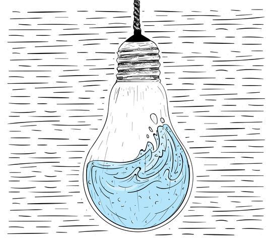 Vektor Handdragen Lightbulb Illustration