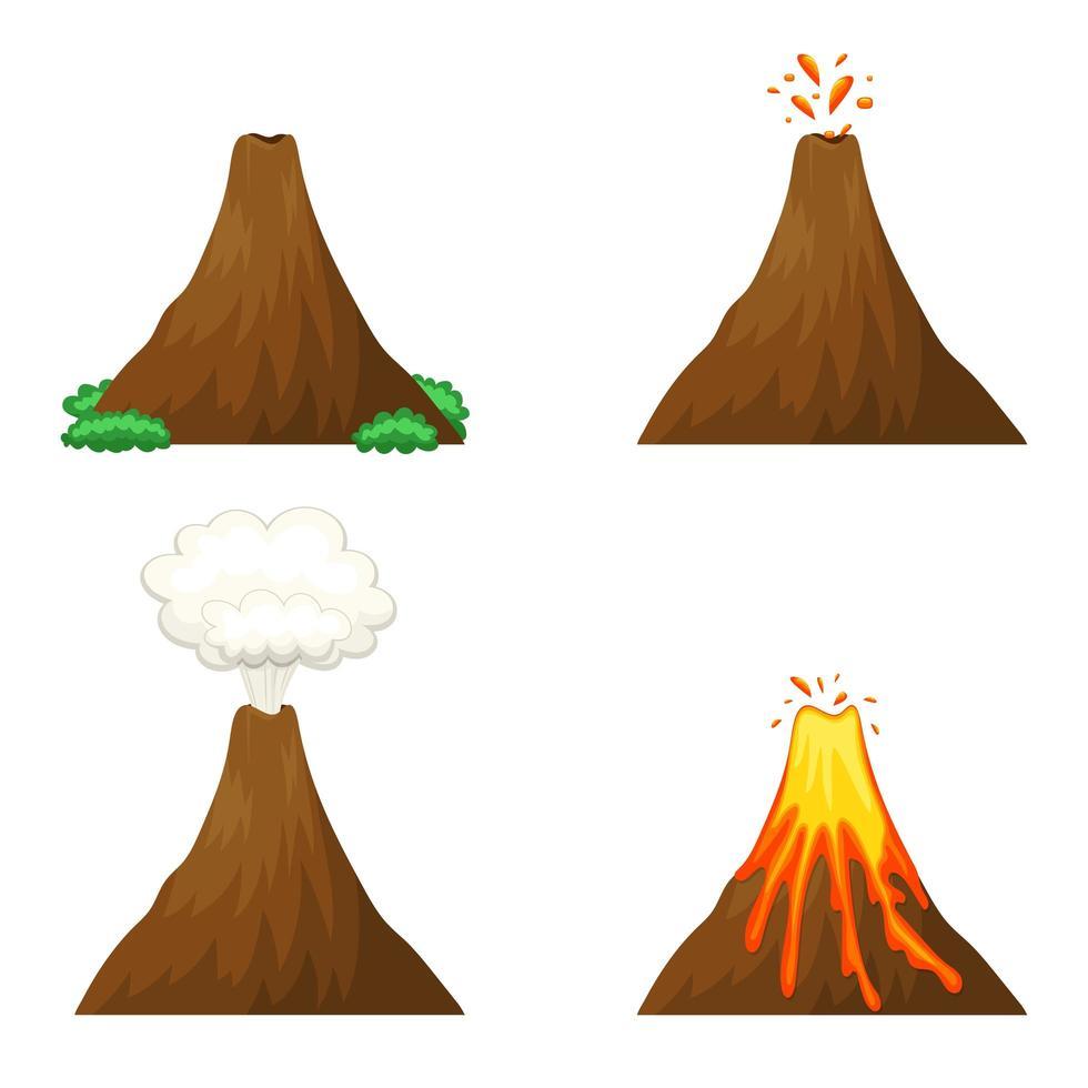 vulkan vektor design illustration isolerad på vit bakgrund