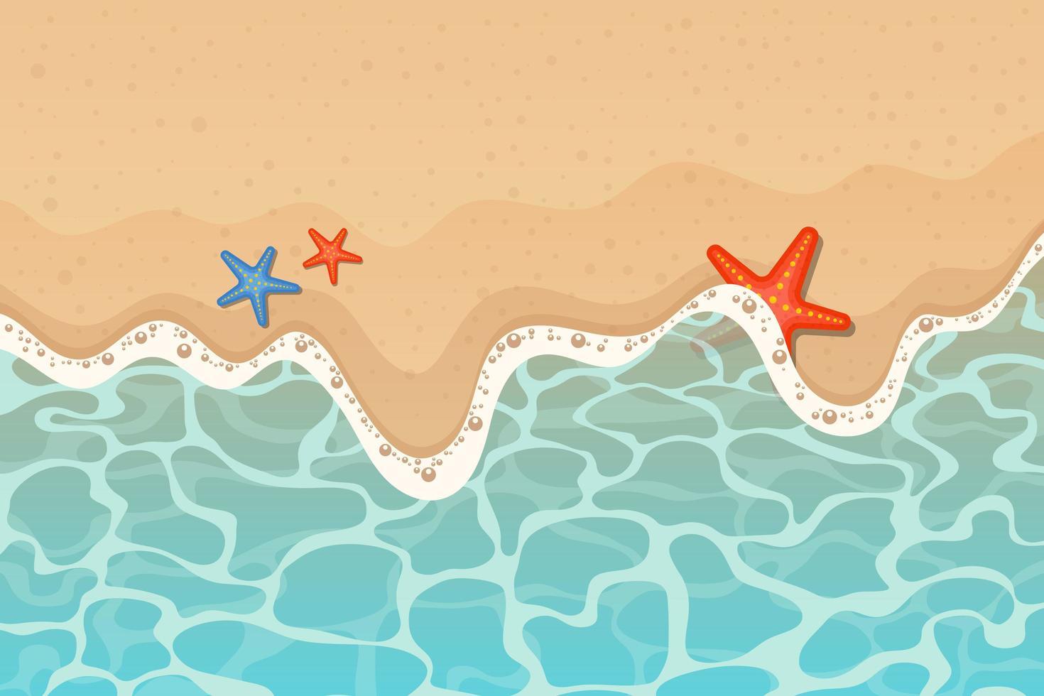 hav och strand bakgrund vektor design illustration