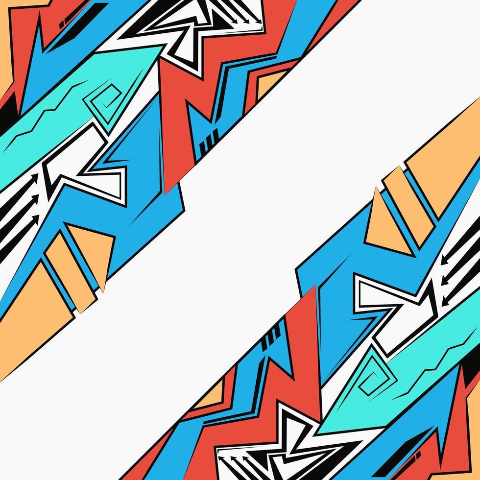 urban graffiti ritstil, abstrakt geometrisk futuristisk ljus bakgrund vektor