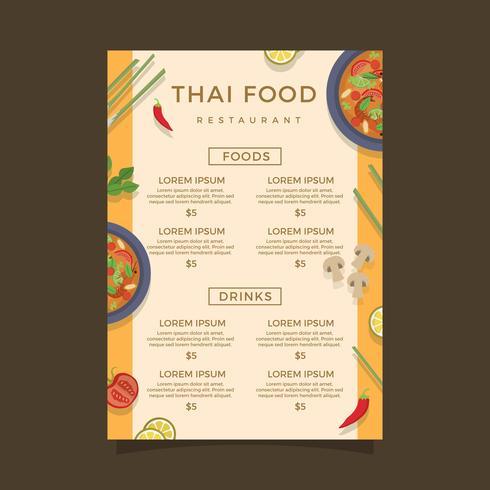 Thailand Mat Meny Vector Mall