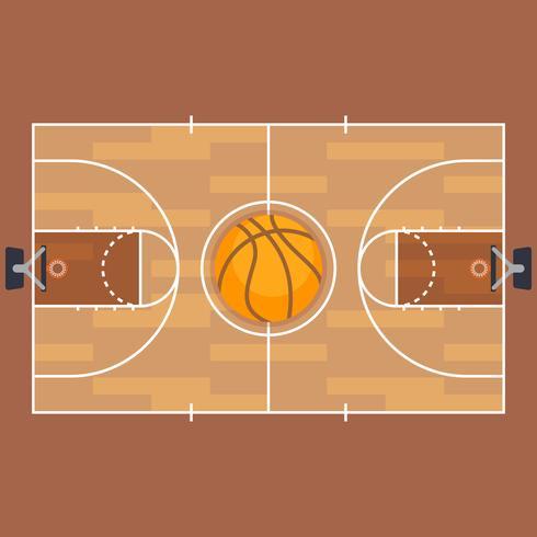 Basketplan och basketplanplanplan. vektor