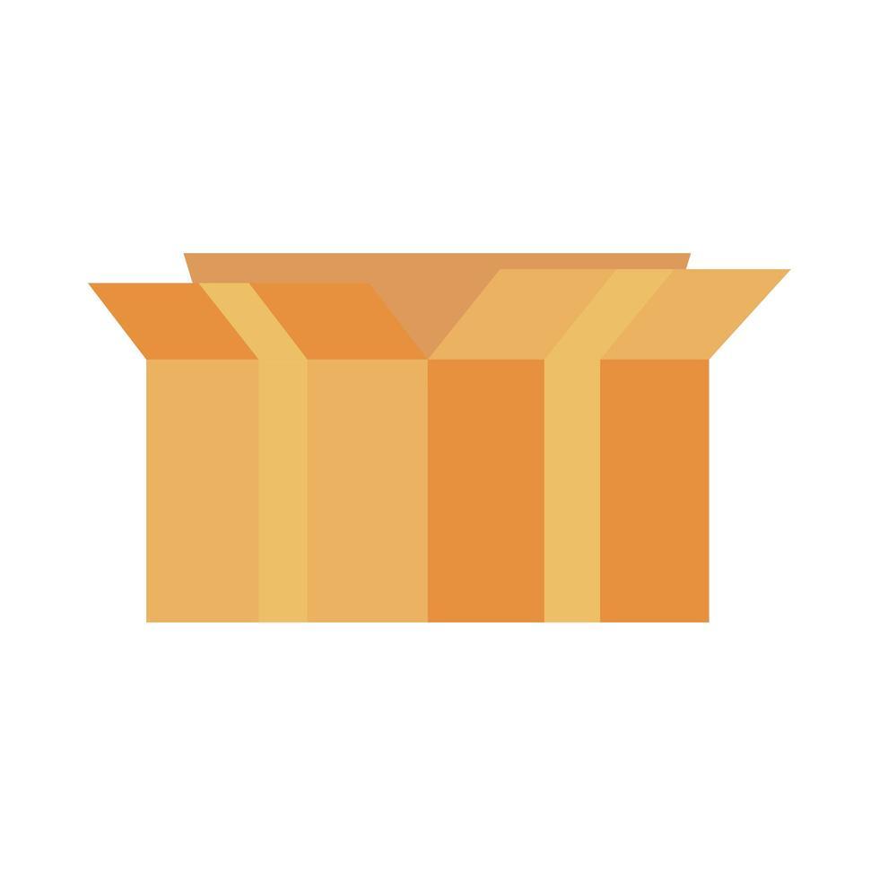 Box Karton Lieferservice isoliert Symbol vektor