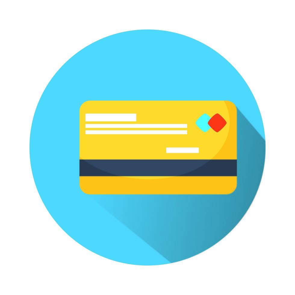 kreditkort e-handel isolerad ikon vektor
