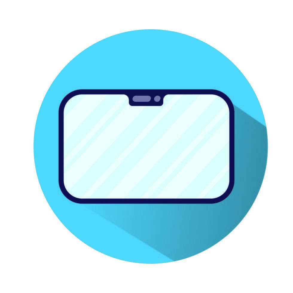 surfplatta elektronisk enhet isolerad ikon vektor