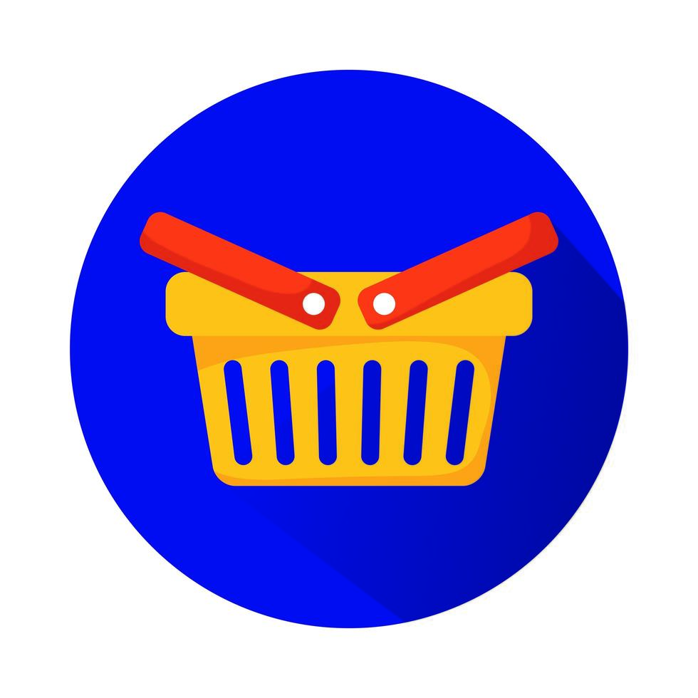 shopping korg marknadsföring isolerade ikon vektor