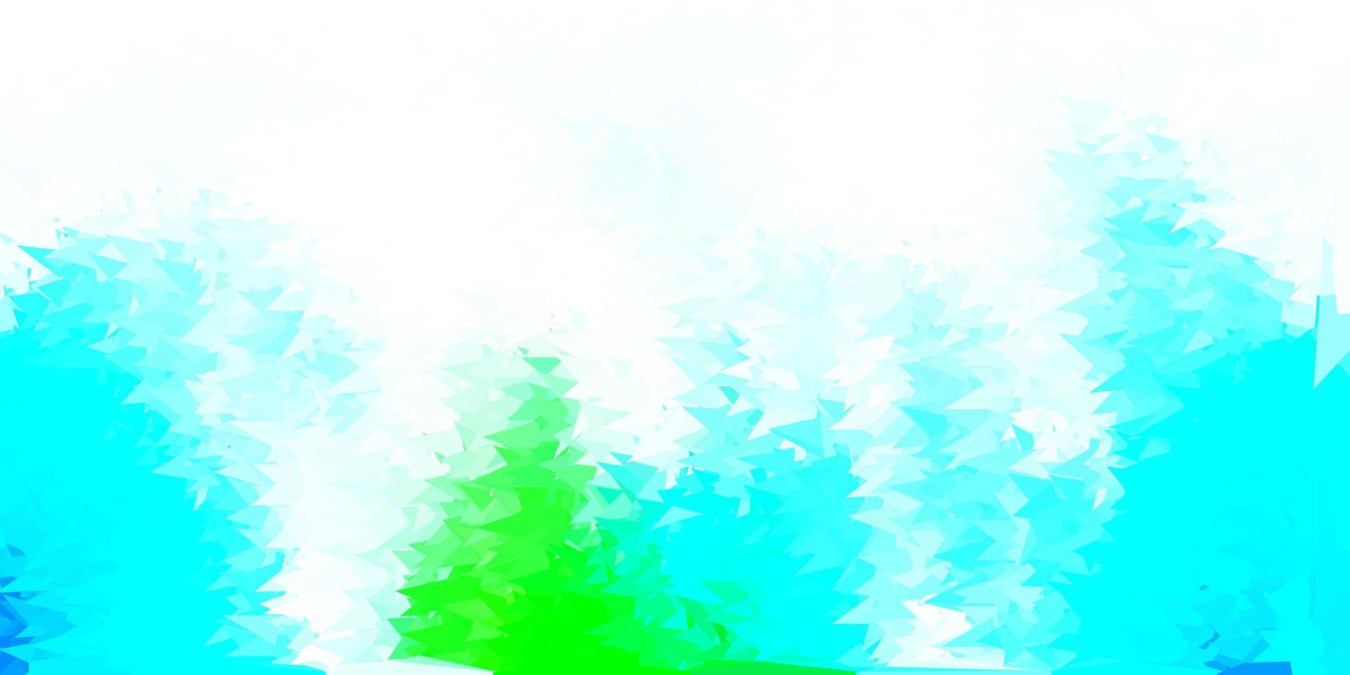 ljusblå, grön vektor abstrakt triangel mall.