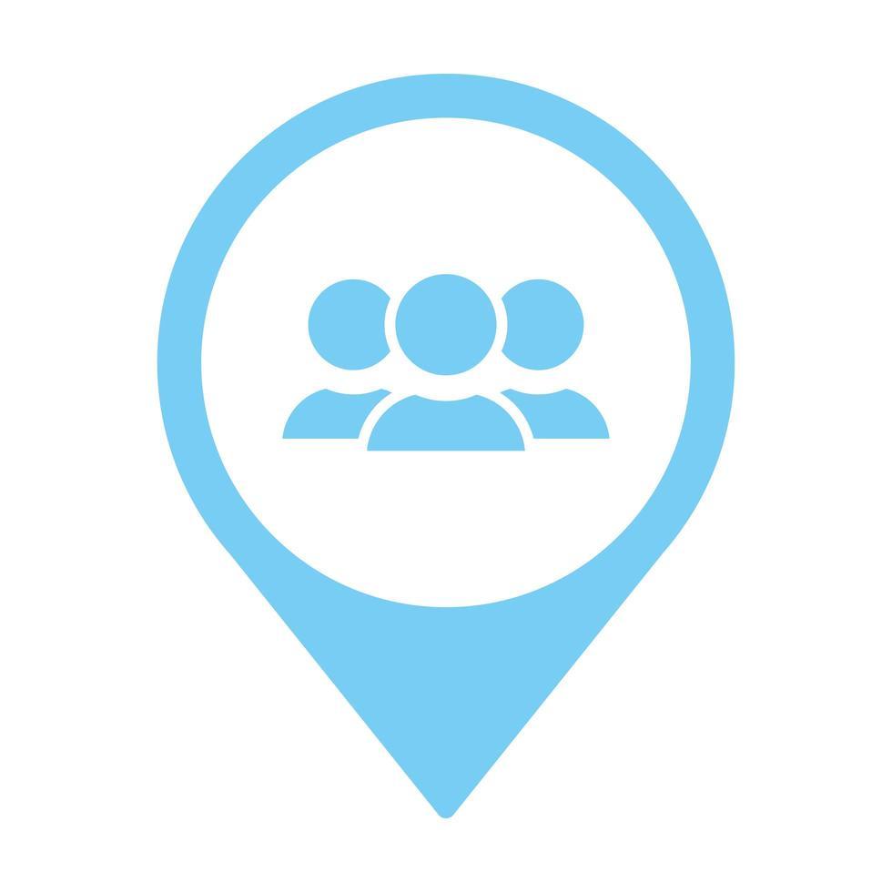 teamwork-avatarer på stiftplats vektor