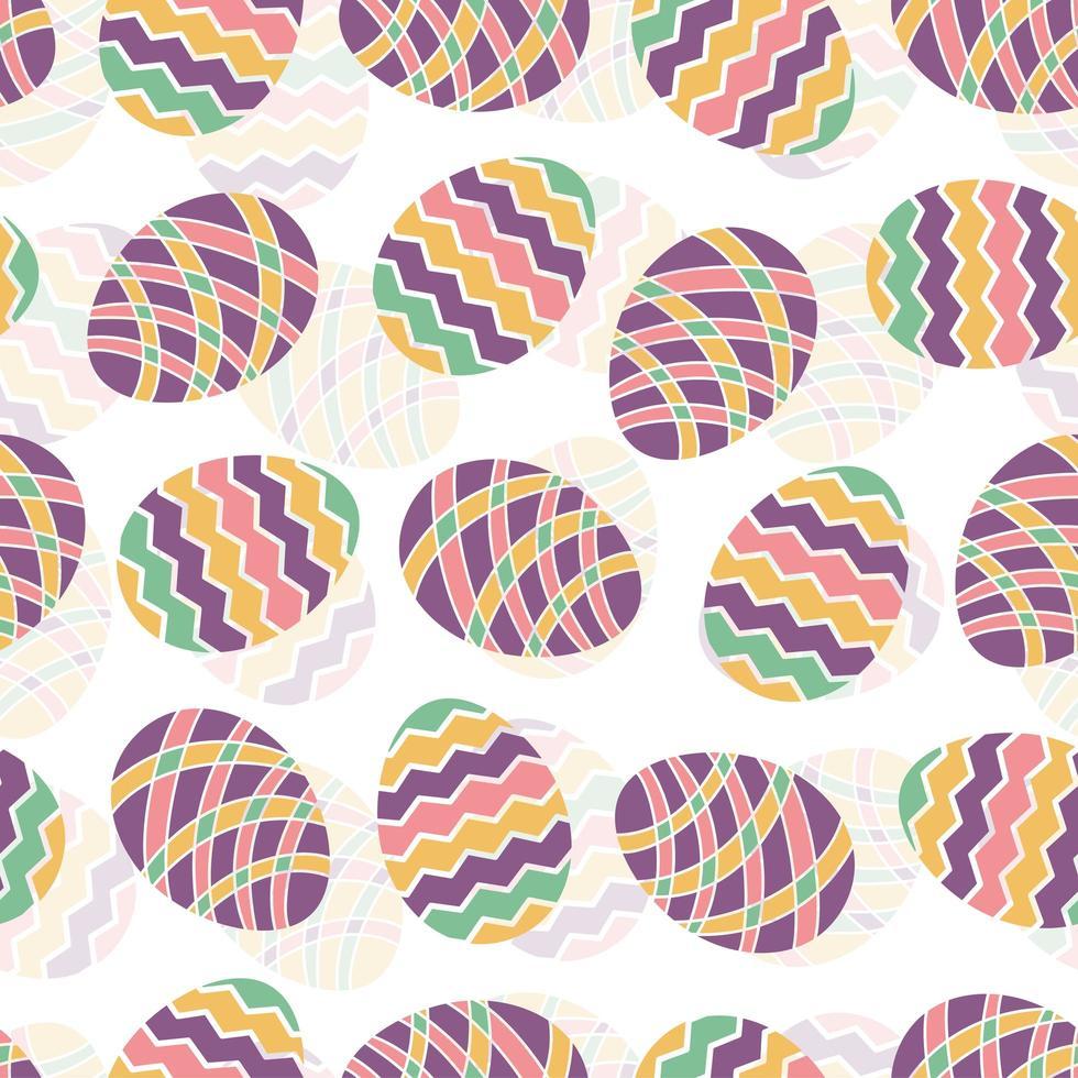 påskägg sömlösa mönster vektor