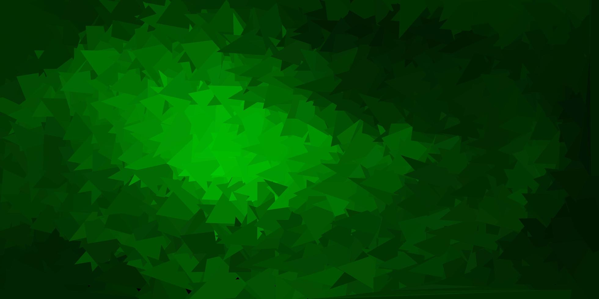 dunkelgrüner Vektor-Gradienten-Polygonentwurf. vektor