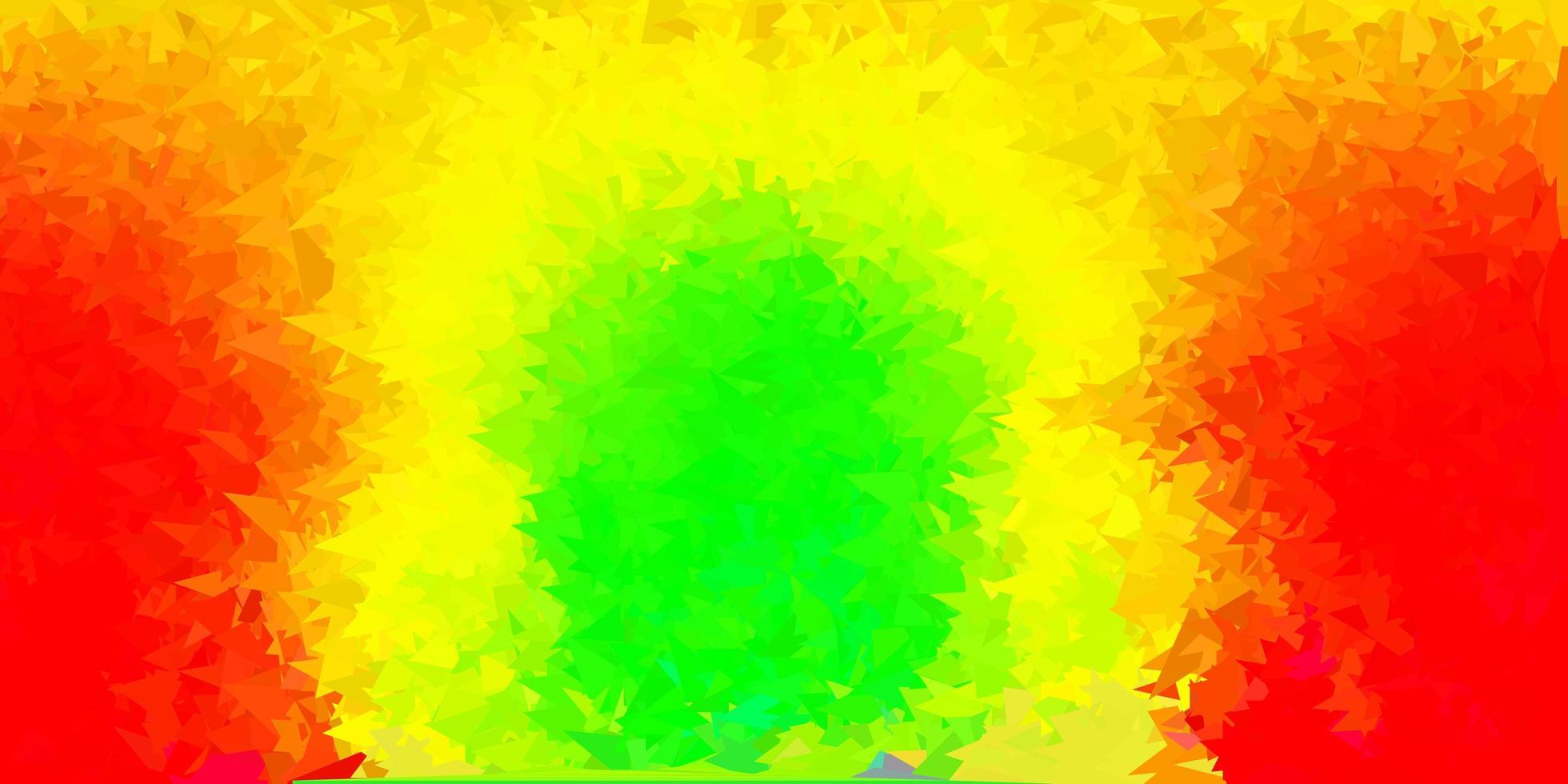 dunkelgrüne, rote Vektor-Dreieck-Mosaik-Tapete. vektor