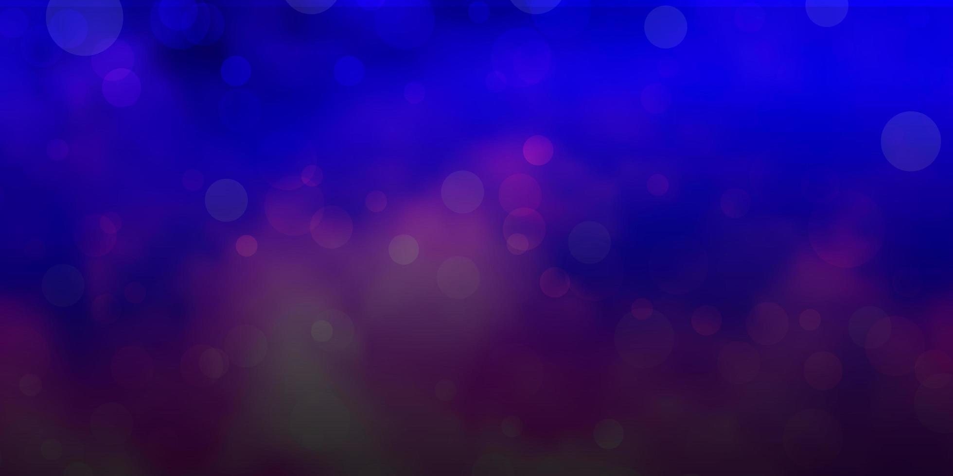hellrosa, blaue Vektorschablone mit Kreisen. vektor