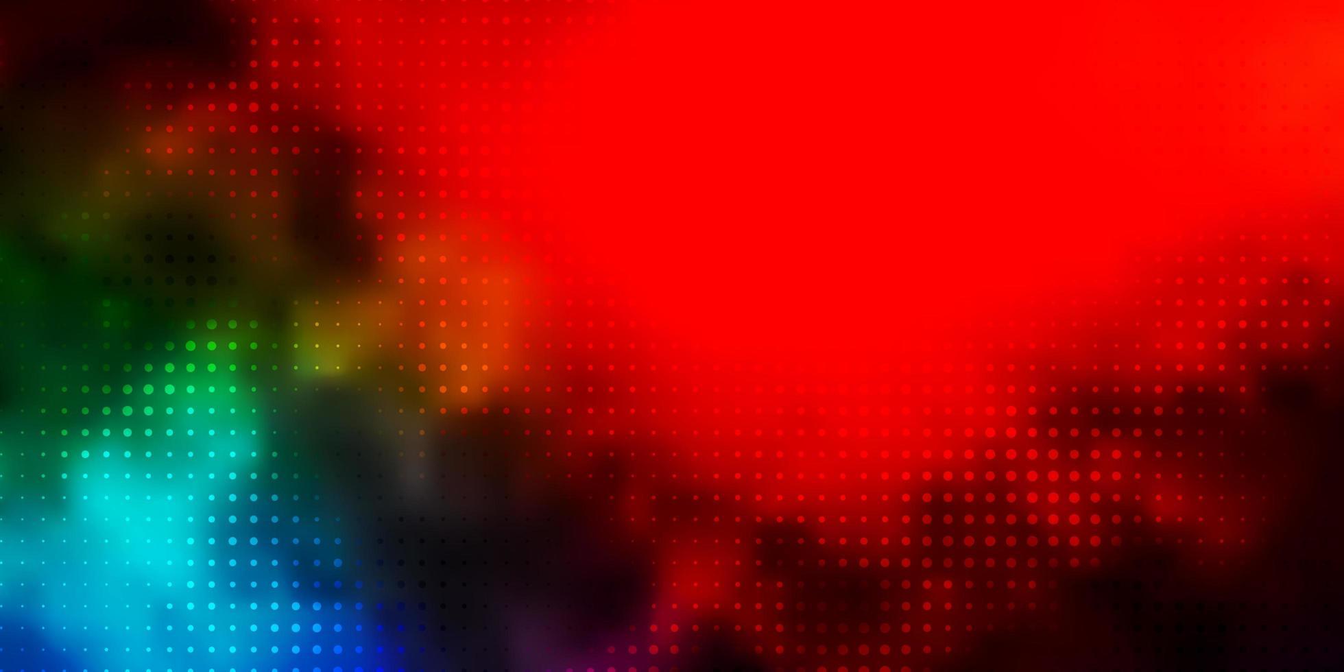 mörkt flerfärgat vektormönster med sfärer. vektor