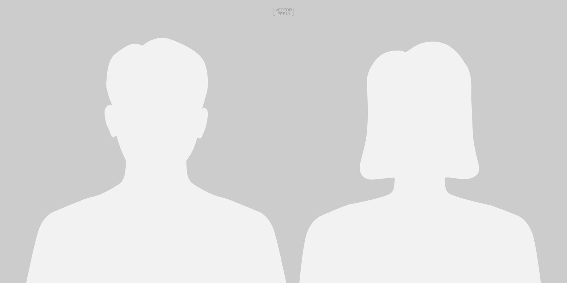 manlig och kvinnlig symbol. mänsklig profilikon eller personerikon. man och kvinna tecken och symbol. vektor. vektor