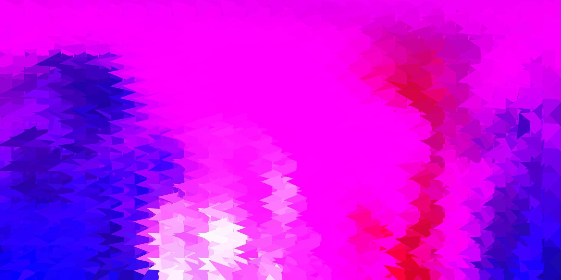 dunkelviolette, rosa Vektor-Dreieck-Mosaik-Tapete. vektor