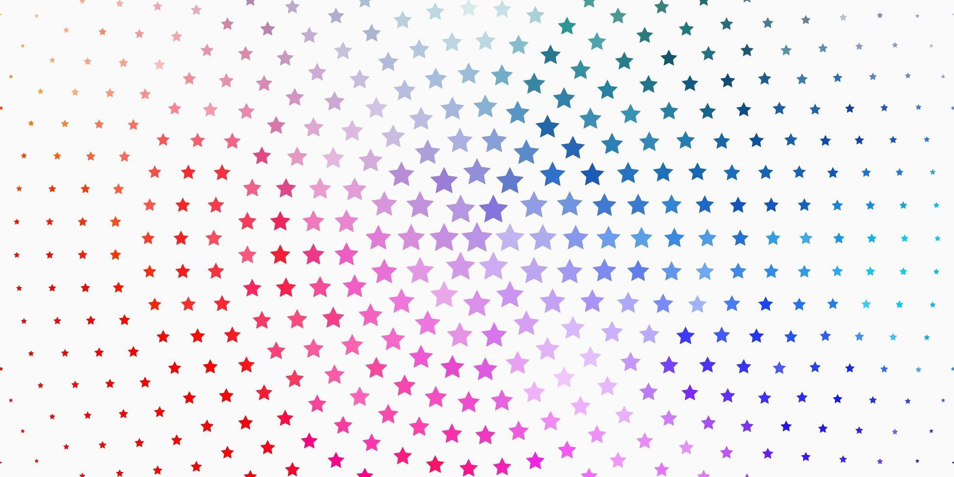 ljus flerfärgad vektorbakgrund med färgglada stjärnor. vektor