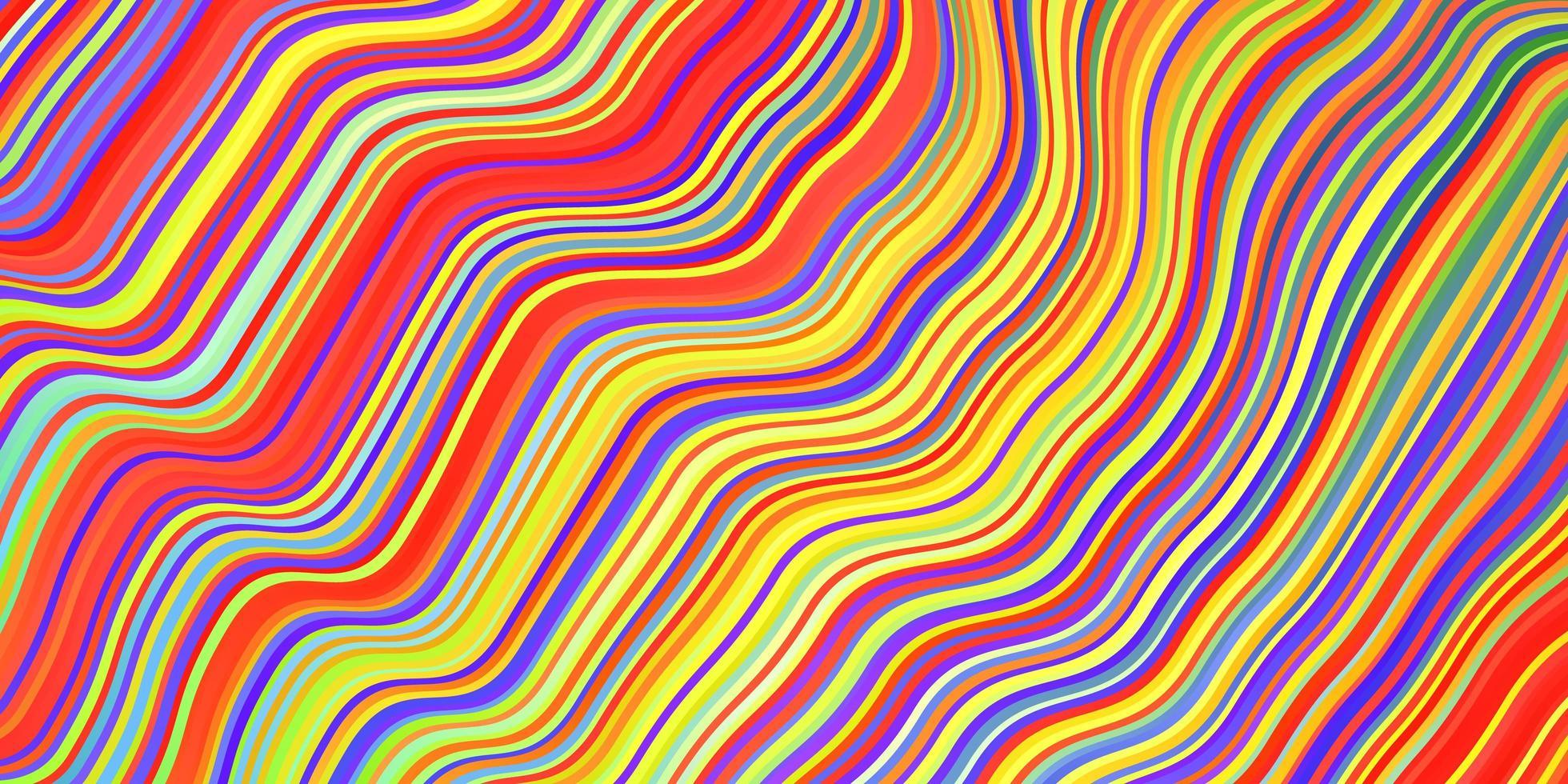 ljus flerfärgad vektor konsistens med kurvor.