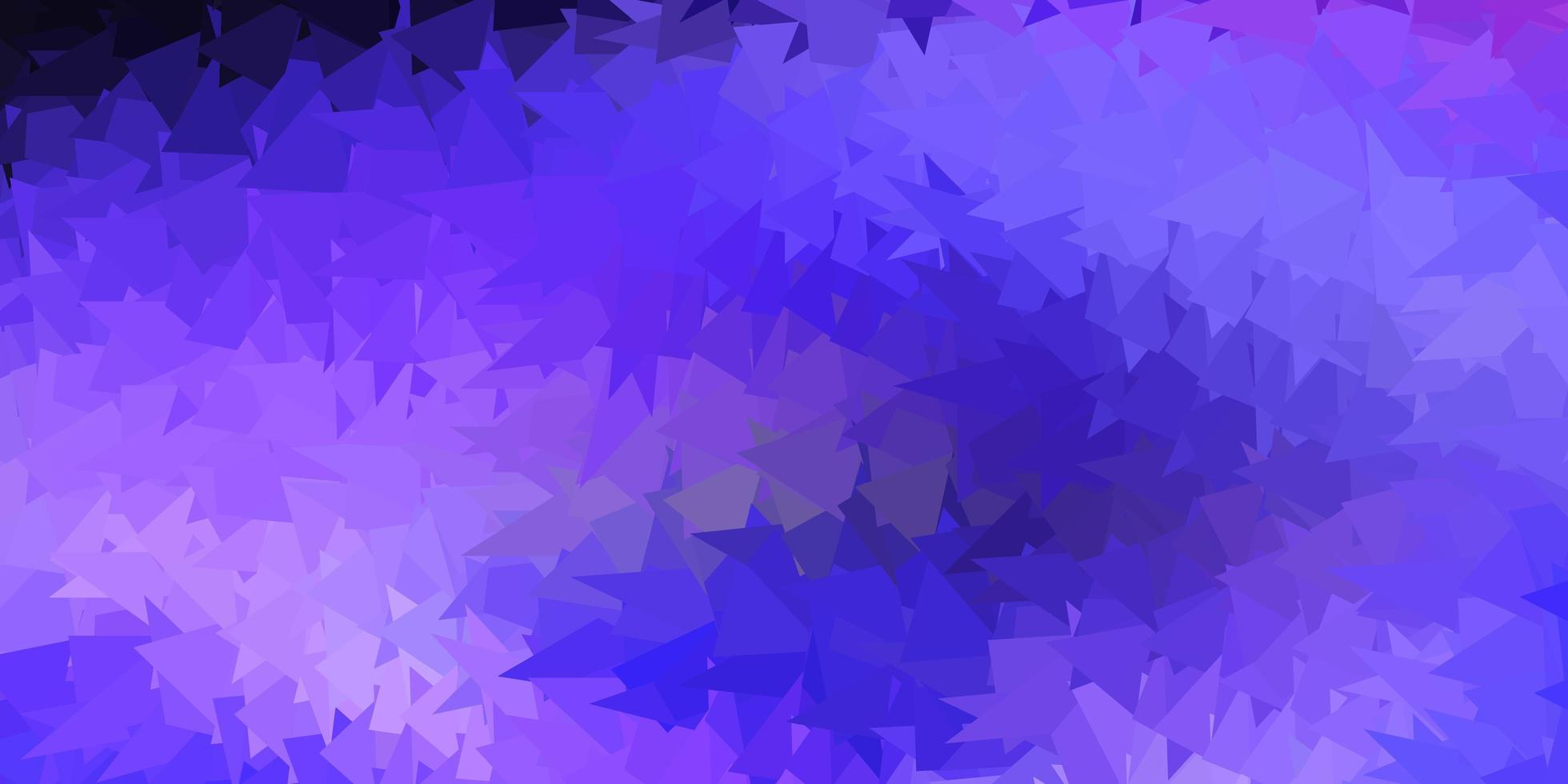ljus lila vektor triangel mosaik bakgrund.