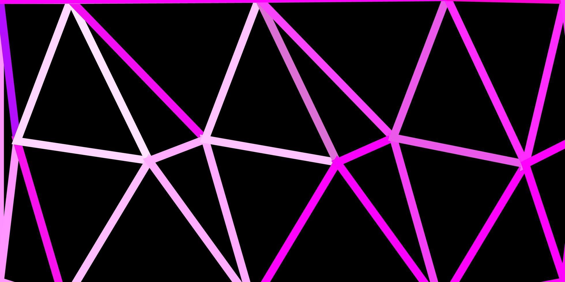 hellviolette, rosa Vektor Poly Dreieck Vorlage.