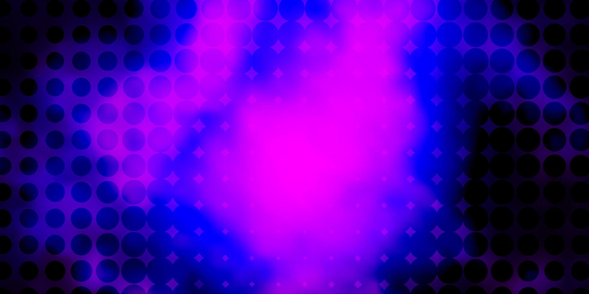 mörk lila vektor bakgrund med cirklar.