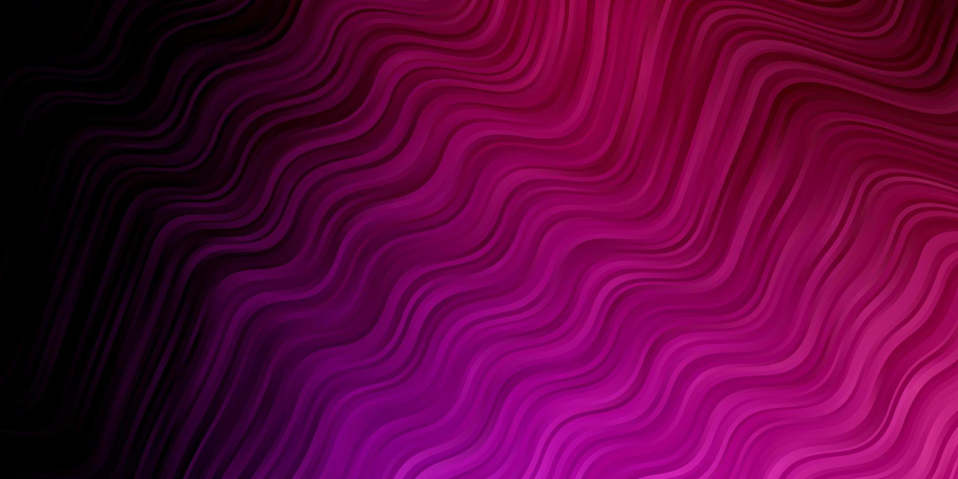 dunkelviolette, rosa Vektorschablone mit Kurven. vektor