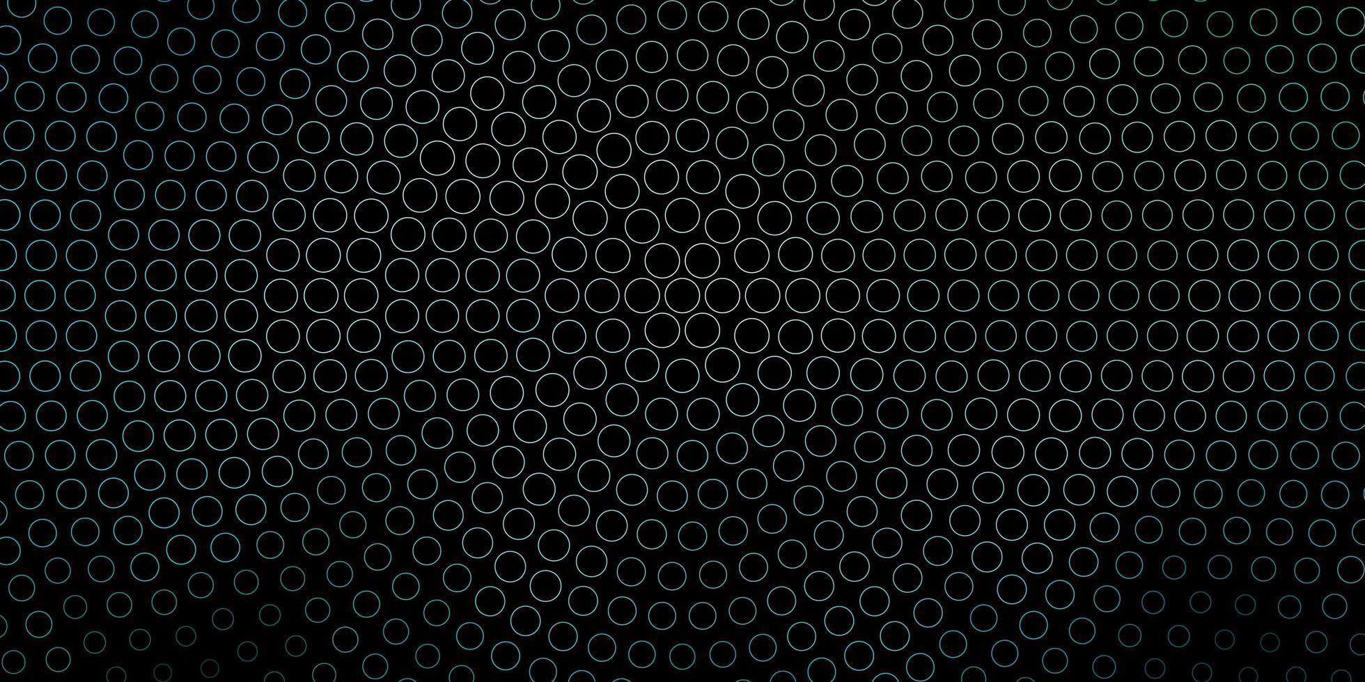 dunkelblaue, grüne Vektorschablone mit Kreisen. vektor