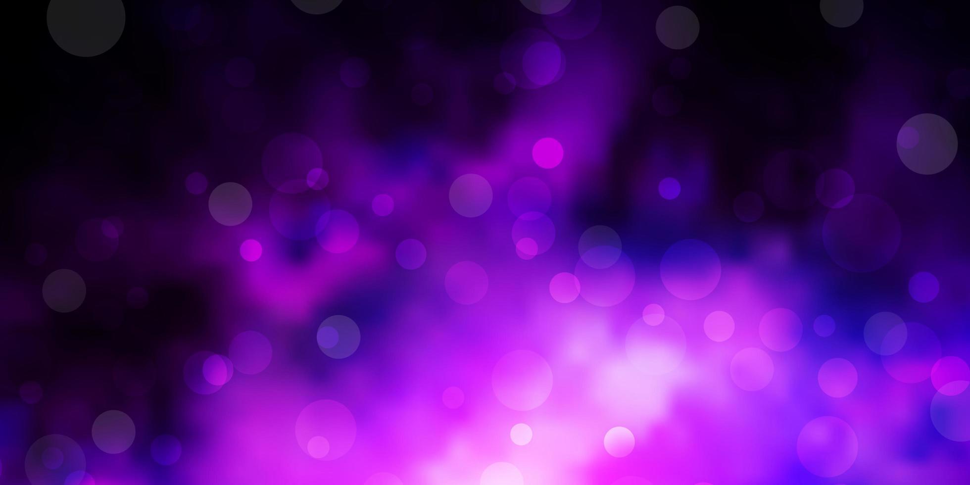 dunkelvioletter Vektorhintergrund mit Flecken. vektor