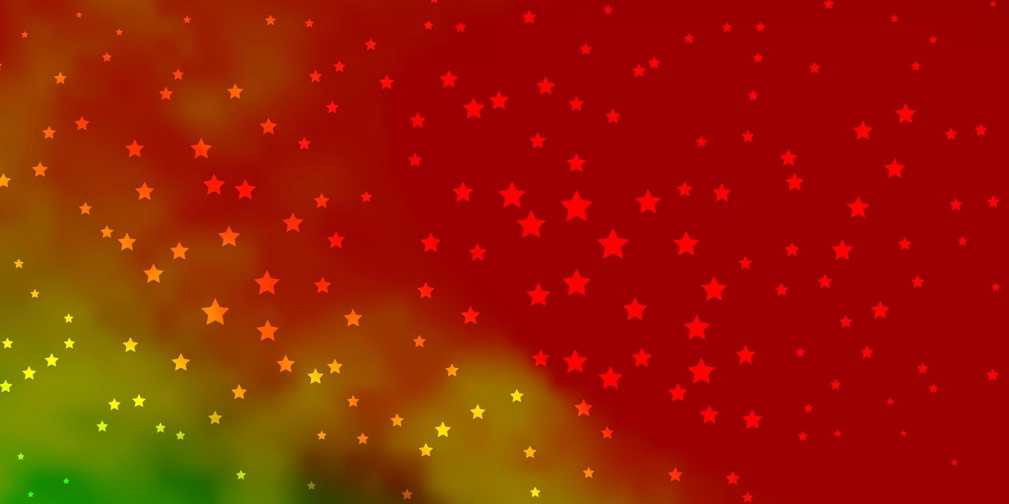 dunkles mehrfarbiges Vektorlayout mit hellen Sternen. vektor