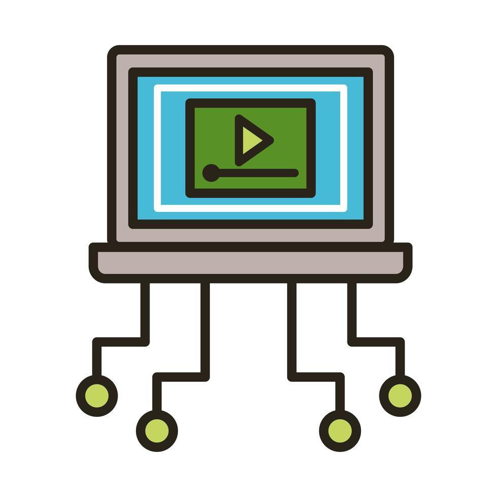 Mediaplayer im Laptop vektor