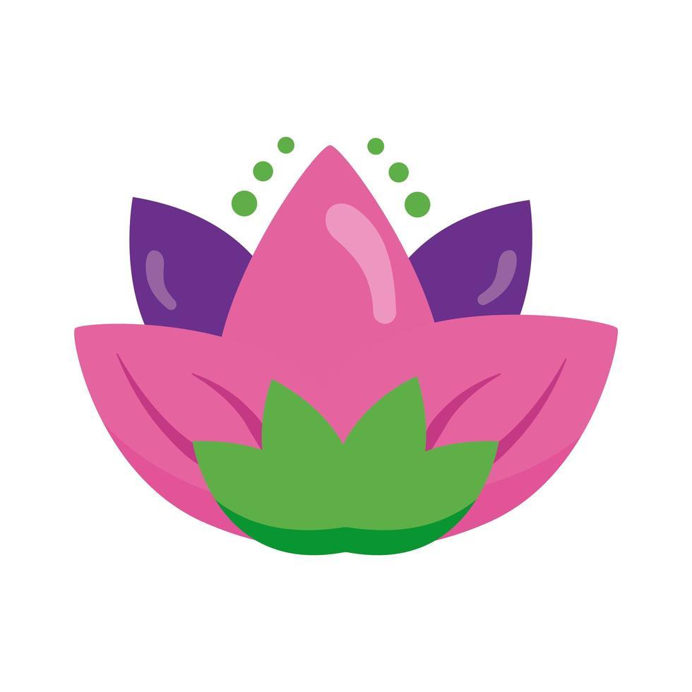 lotusblomma hinduisk symbol platt stilikon vektor