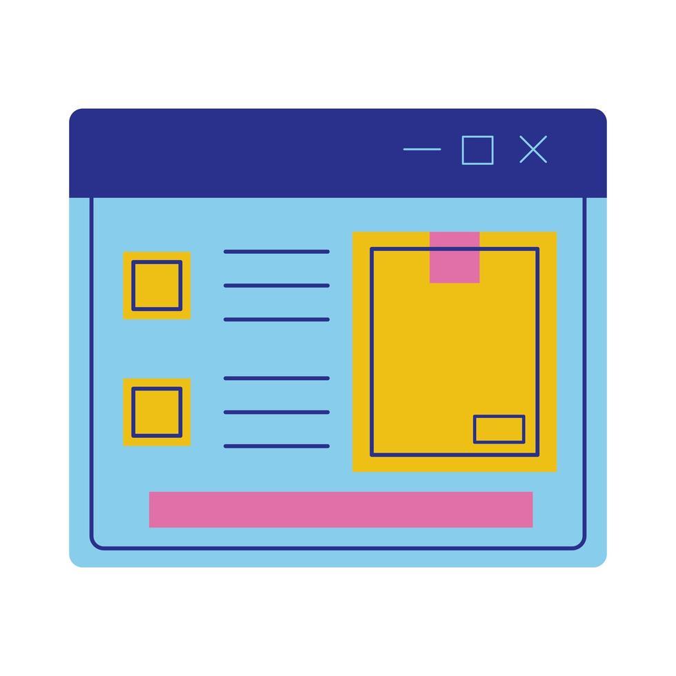 Karton im Webseiten-Lieferservice im flachen Stil vektor