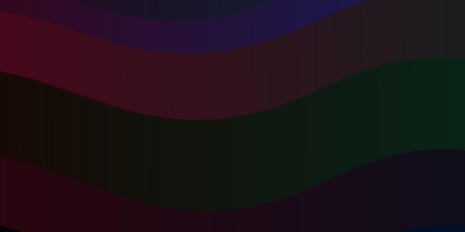 dunkle mehrfarbige Vektorschablone mit Linien. vektor