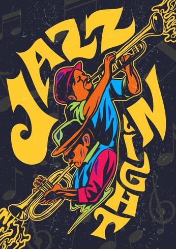 Jazz-psychedelisches Konzert-Plakat vektor