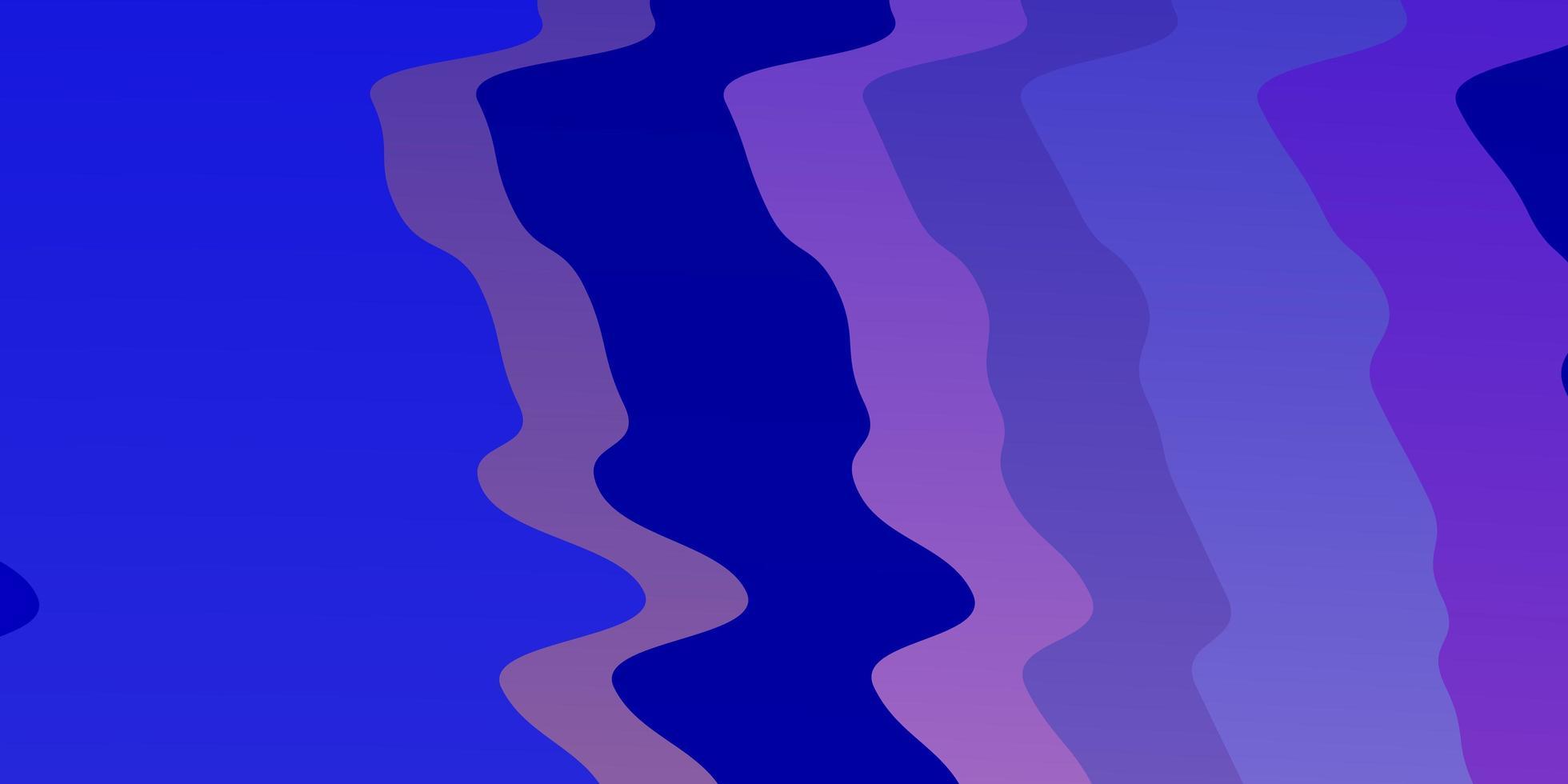 ljusrosa, blå vektorlayout med kurvor. vektor