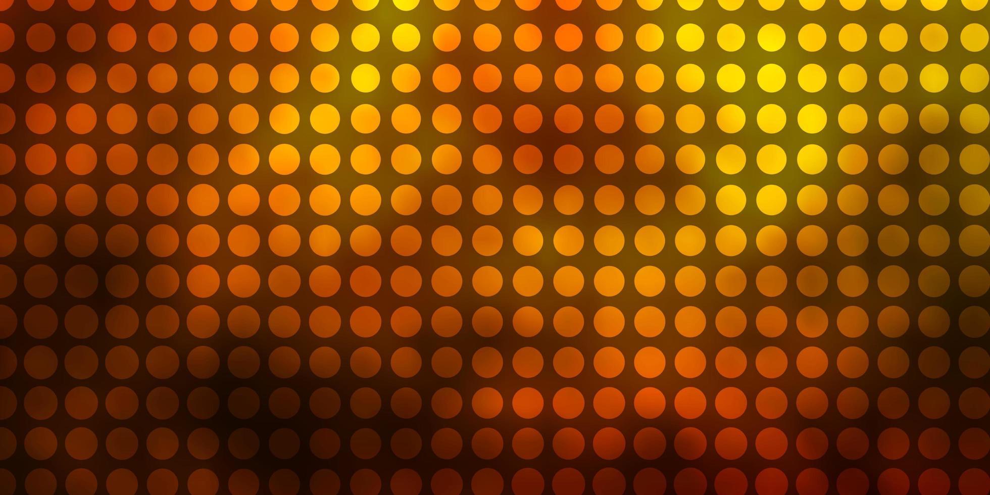 mörkgrön, gul vektormall med cirklar. vektor