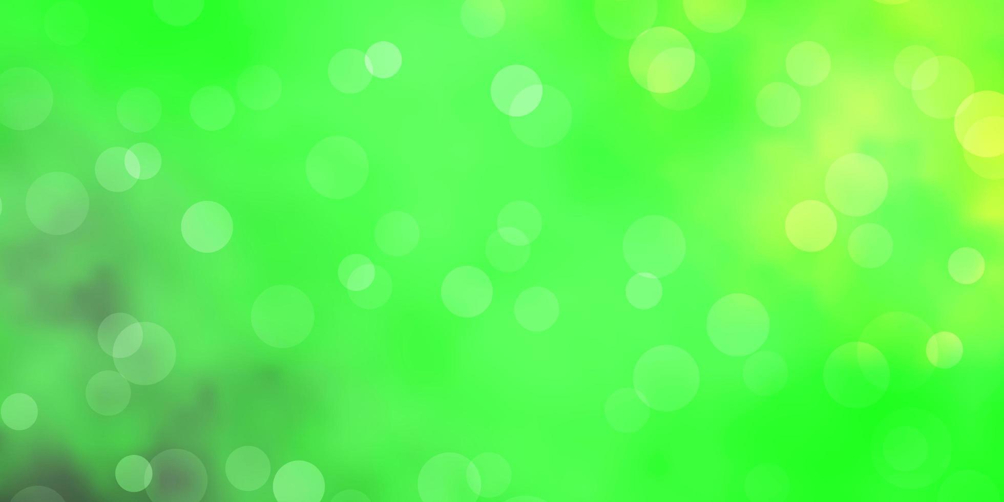 hellgrüne, gelbe Vektorbeschaffenheit mit Scheiben. vektor