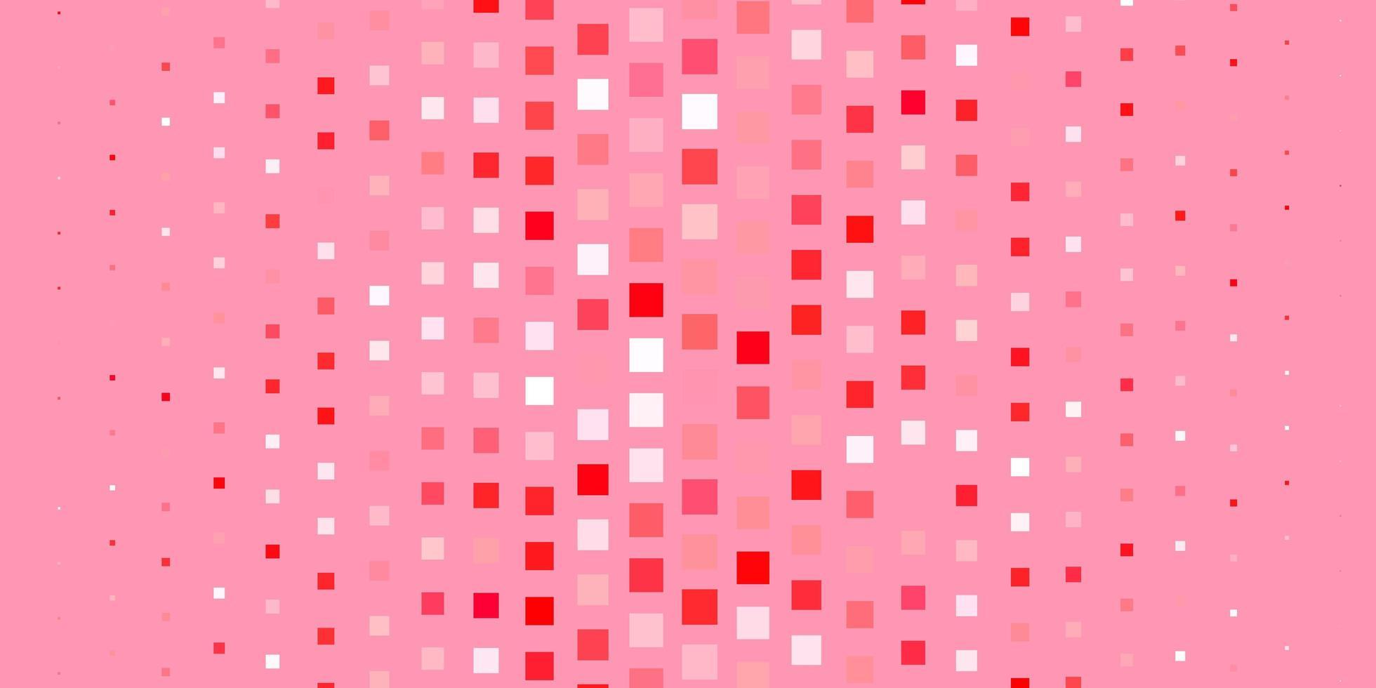 hellrote Vektortextur im rechteckigen Stil. vektor