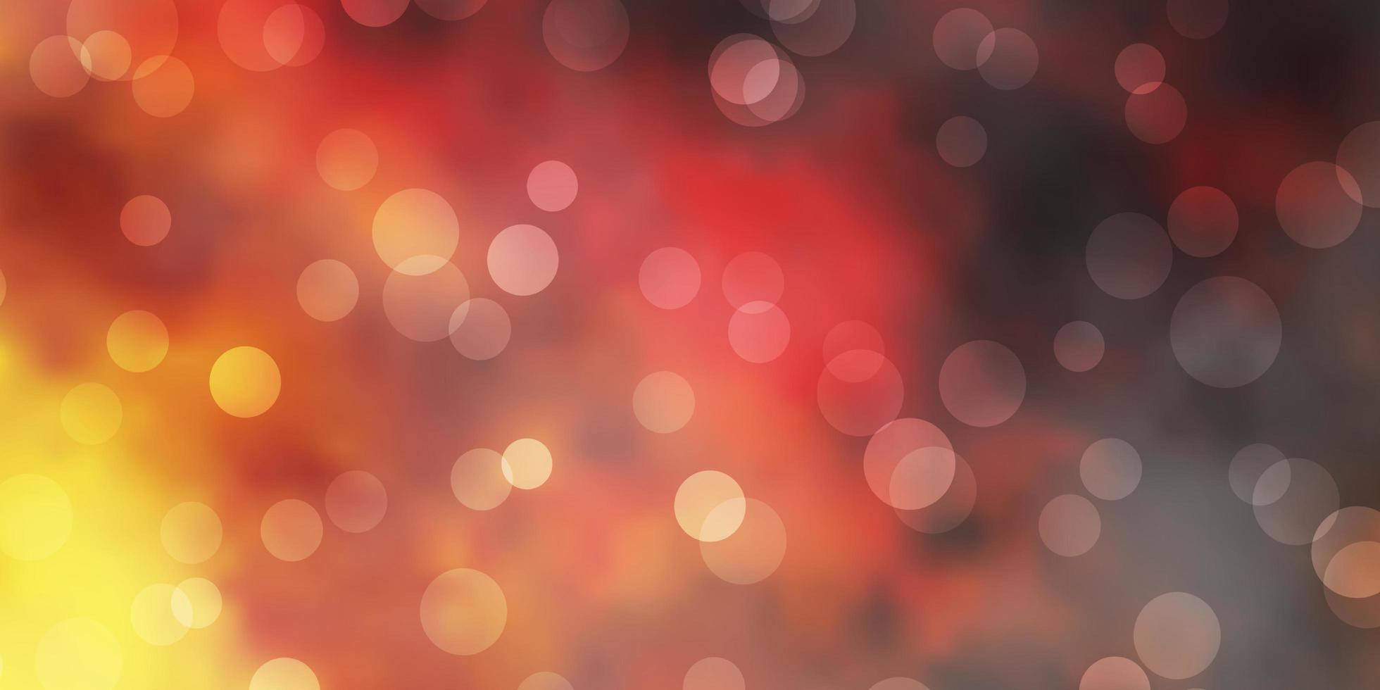 mörk gul vektor bakgrund med bubblor.