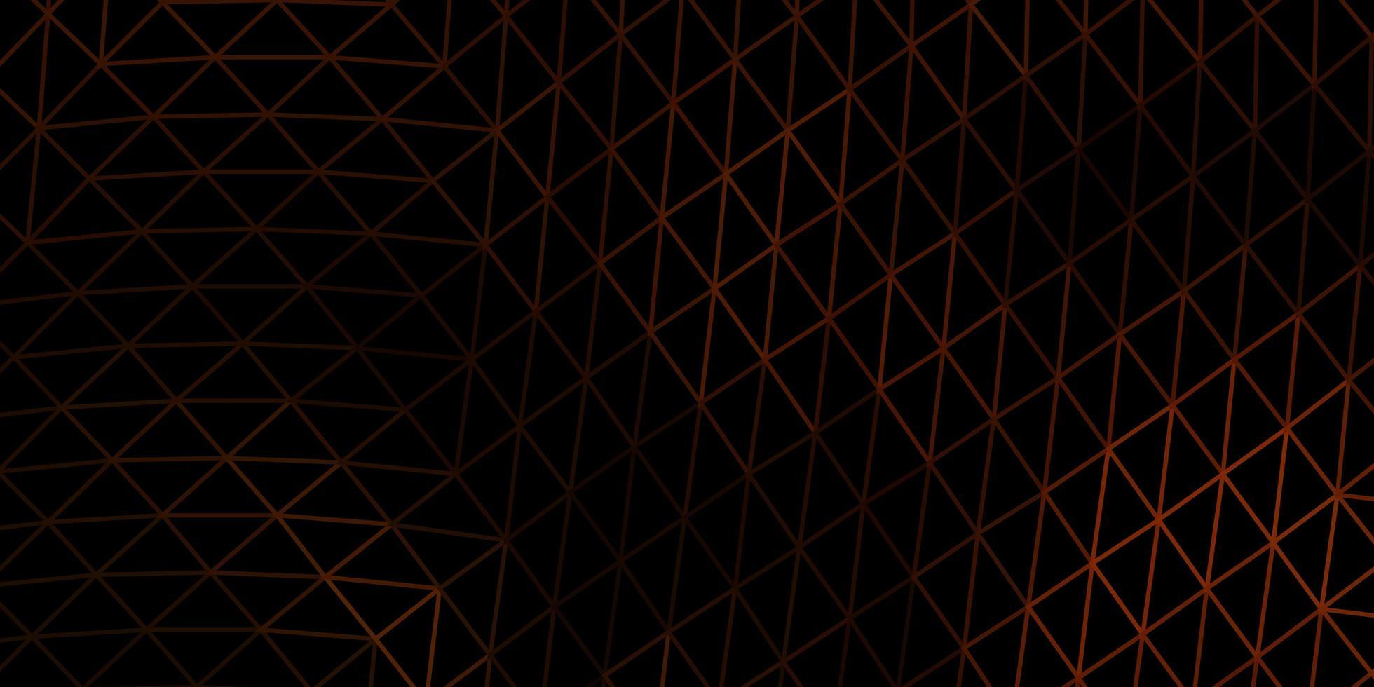 mörk orange vektor gradient polygon design.