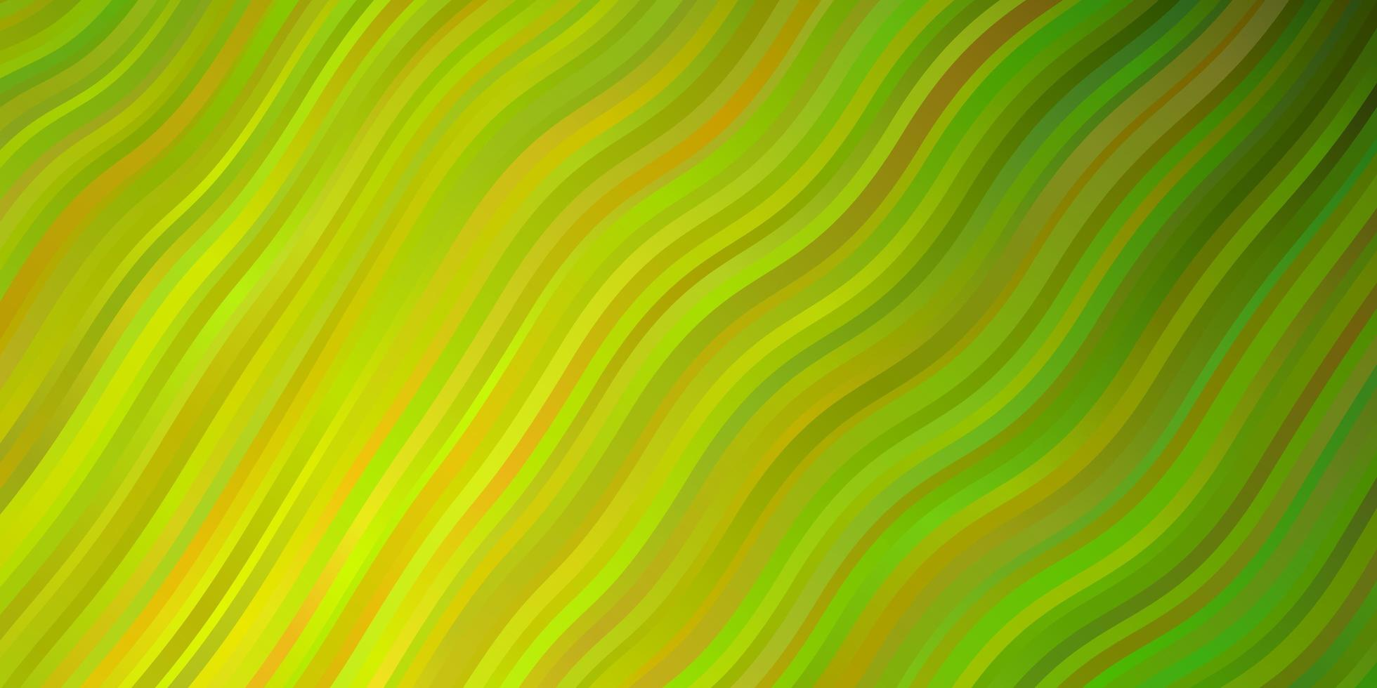ljusgrön, gul vektormall med linjer. vektor
