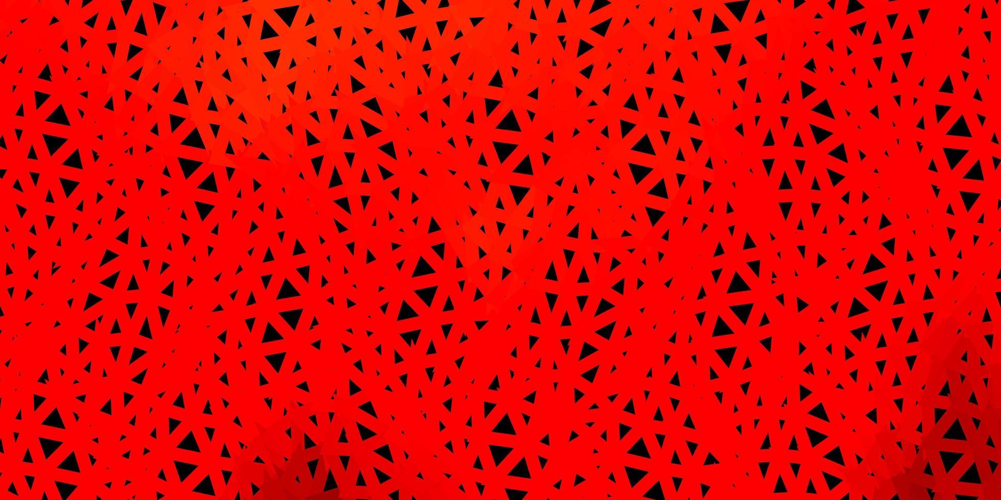 mörk röd vektor triangel mosaik design.