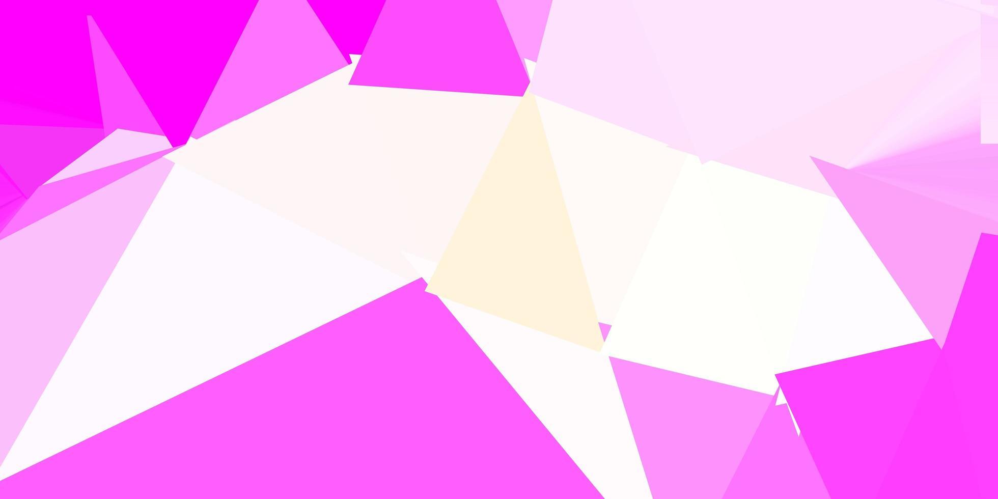 ljusrosa, gula vektorn triangel mosaik tapeter. vektor