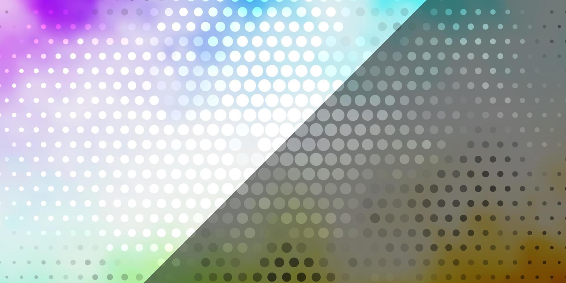 heller mehrfarbiger Vektorhintergrund mit Kreisen. vektor