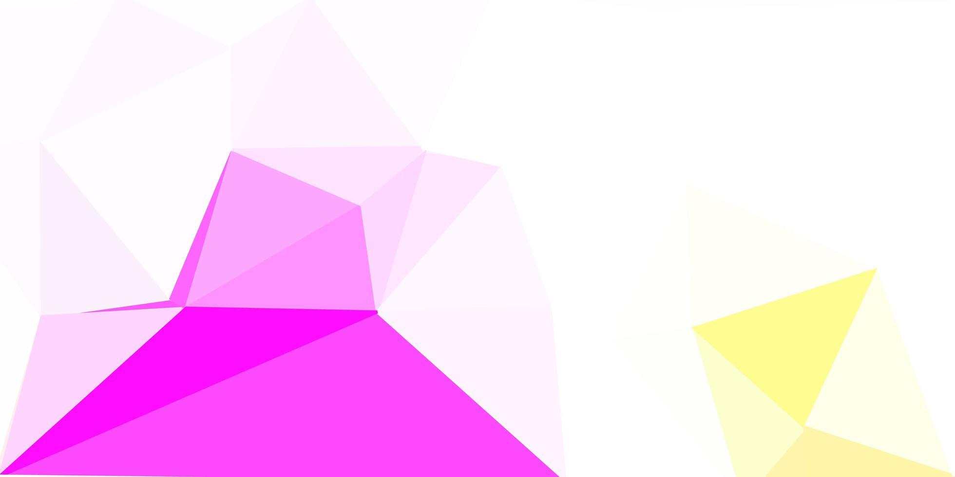 ljusrosa, gul vektor geometrisk polygonal design.
