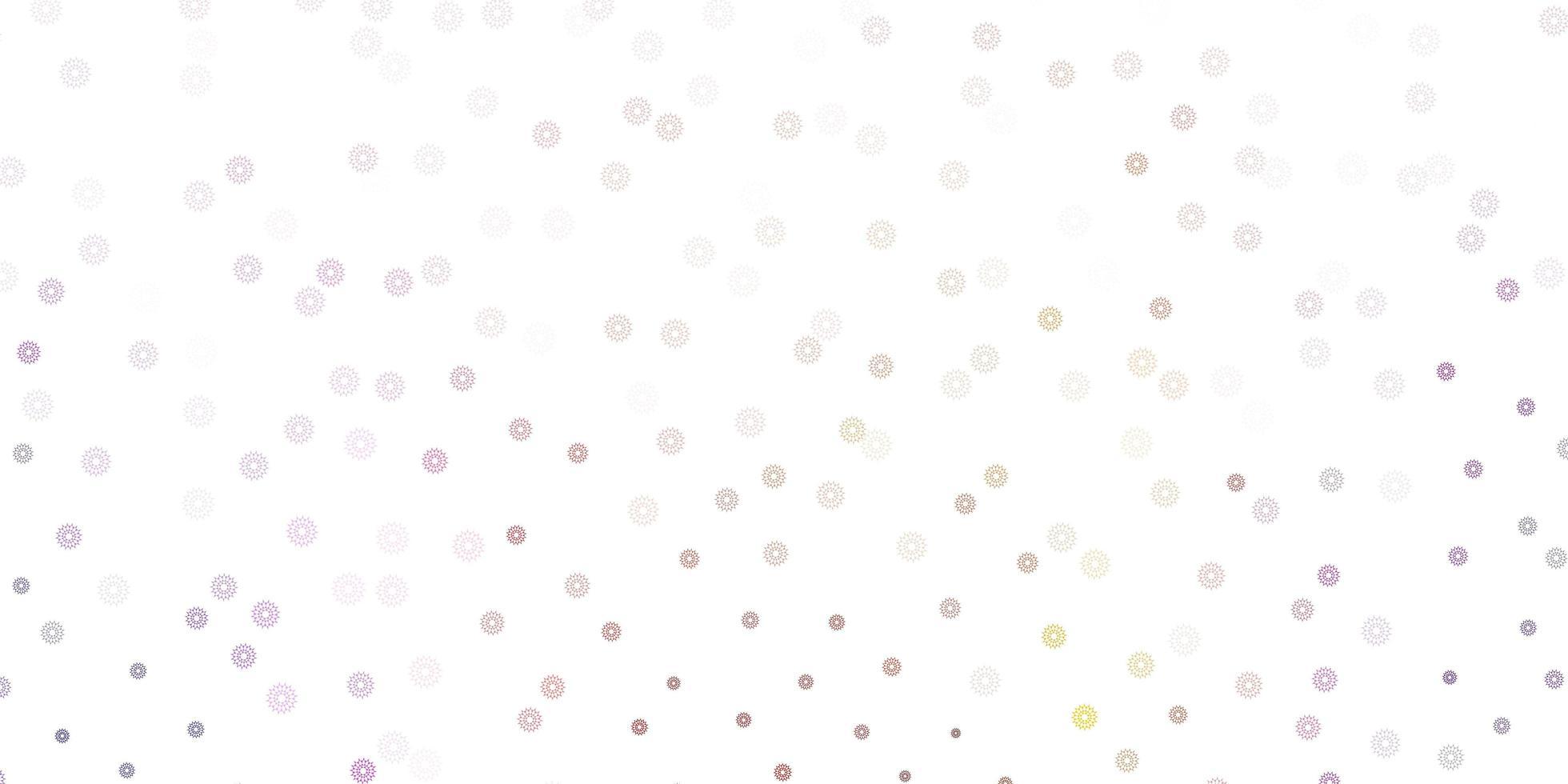 natürliche Kunst des hellvioletten, rosa Vektors mit Blumen. vektor