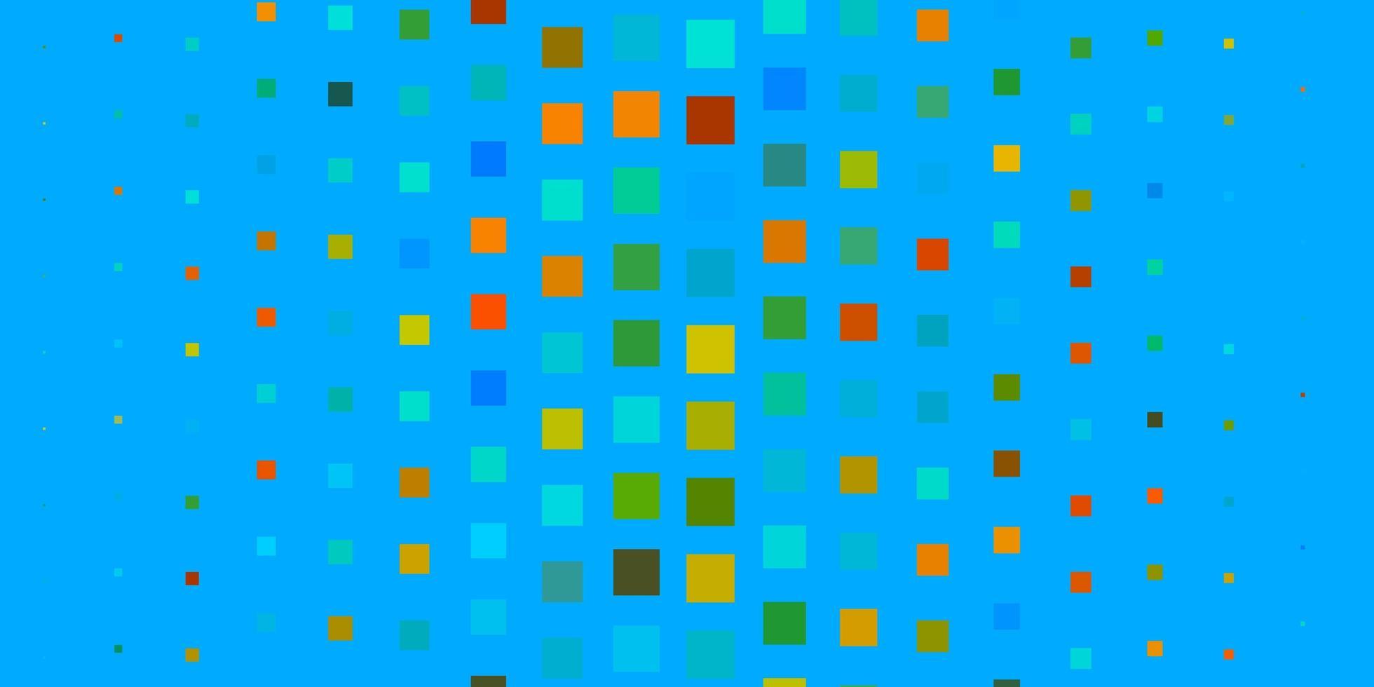 hellblaue, gelbe Vektortextur im rechteckigen Stil. vektor