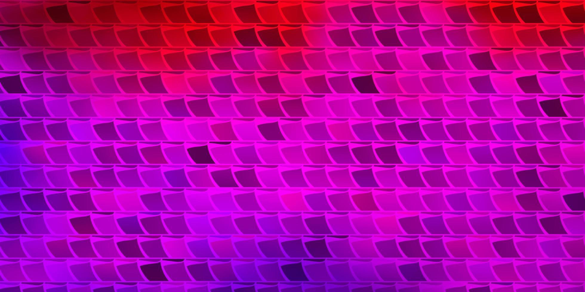 ljusrosa, röd vektorbakgrund med rektanglar. vektor