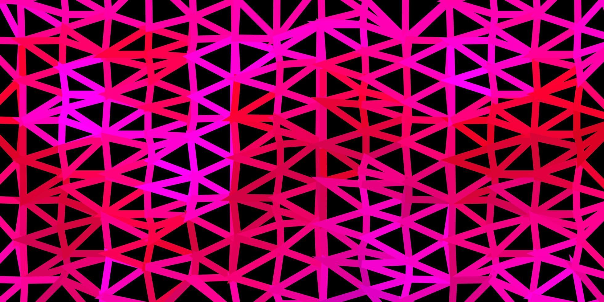 dunkelrosa Vektordreieck-Mosaikmuster. vektor